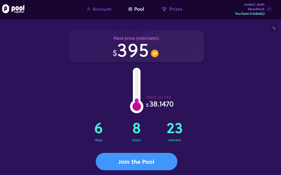 PoolTogether DApp Ethereum